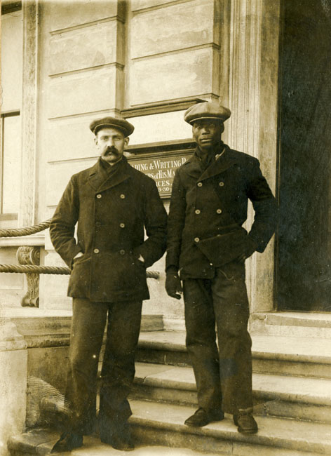 Great Yarmouth, rescued crew members of the SS 'Silksworth Hall' at the Sailors' Home