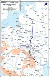 The Eastern Front in 1917 (image from Wikipedia)