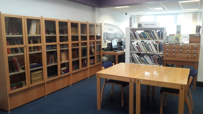 The Local Studies area in Great Yarmouth library