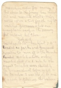 Another page from George's diary