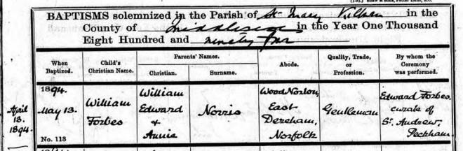 baptisms register