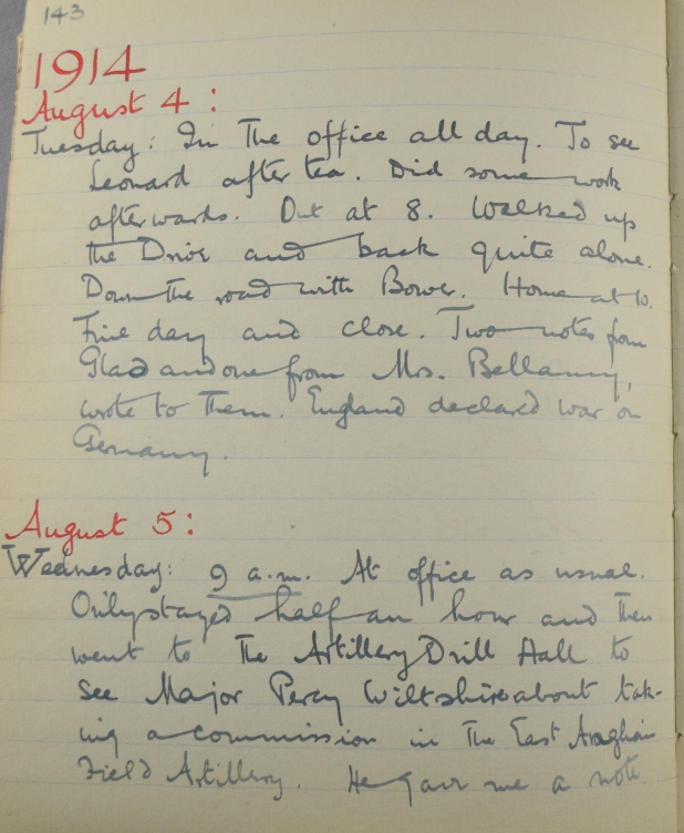 Training in the First World War as recalled by MalcolmCastle