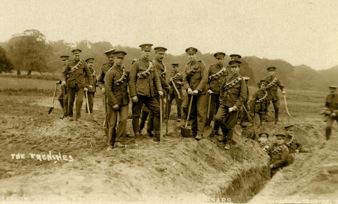 Middlesex hussars at Aylsham 2 1915 by Searson postcard